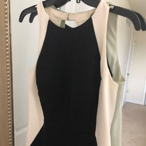 Laundry black and white gown super flattering!